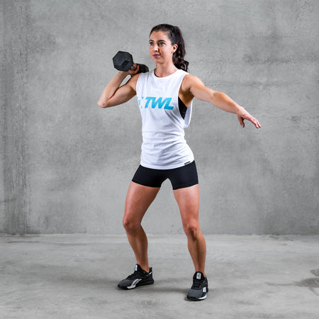 TWL - Unisex Muscle Tank - White/Blue