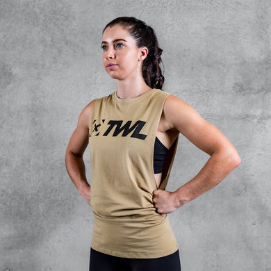 TWL - UNISEX EVERYDAY MUSCLE TANK 2.0 - SAND/BLACK