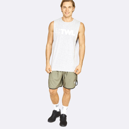 Men's Apparel - The WOD Life - Gunship Muscle Tank - Light Grey/White