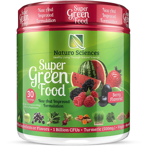 Super Green Food - 100% Natural Greens Powder - Naturo Sciences
