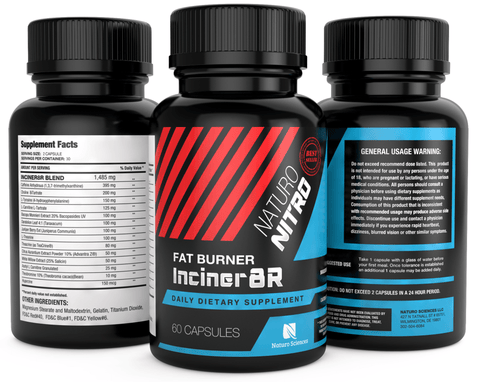 Inciner8R Fat Burner Supplement Designed for Weight Loss and Mental Focus - 60 Servings