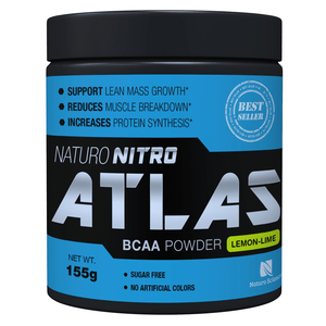 Atlas BCAA Powder By Naturo Nitro, Lemon Lime Flavor - 28 Servings - Naturo Sciences