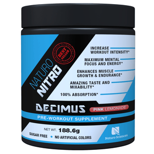 Pre Workout Decimus By Naturo Nitro, 28 Servings - Pink Lemonade Flavor - Naturo Sciences
