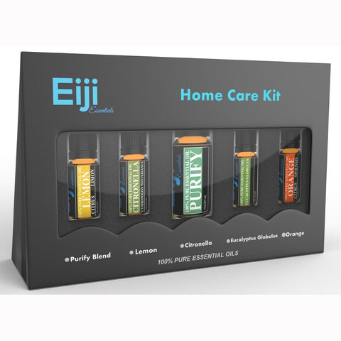 Home Care Kit By Eiji Essentials - 100% Pure Essential Oils - 5 Bottles
