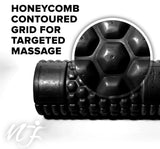 Naturo Fitness Foam Roller, Black Color - 13 Inch, Honeycomb Design, Ultra Durable and Hardwearing, Perfect for Myofascial Release and Sports Massage