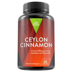 Organic Ceylon Cinnamon Dietary Supplement By Naturo Sciences, 60 Capsules - Naturo Sciences