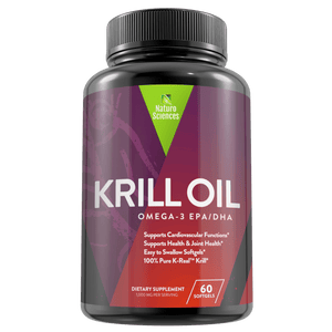 Krill Oil By Naturo Sciences  - 100% K-REAL™ Krill Oil, 30 Servings, 145mg Essential Fatty Acids - Naturo Sciences
