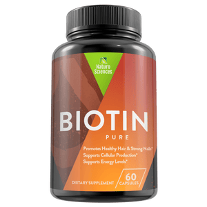 Pure Biotin High Potency 10.000mcg Dietary Supplement By Naturo Sciences, 60 Capsules - Naturo Sciences