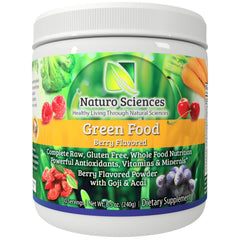 Green Food By Naturo Sciences - Berry Flavor - 30 Servings