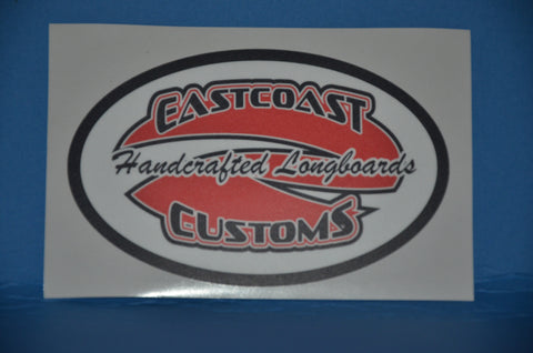 ECC LOGO Badge Sticker Laminated 4""