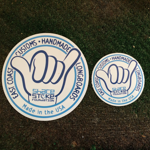 "SHARE THE STOKE Vinyl Laminated Stickers 3.5"" and 2"""