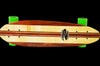 Handmade Mini Skateboard Exotic Bubinga Wood