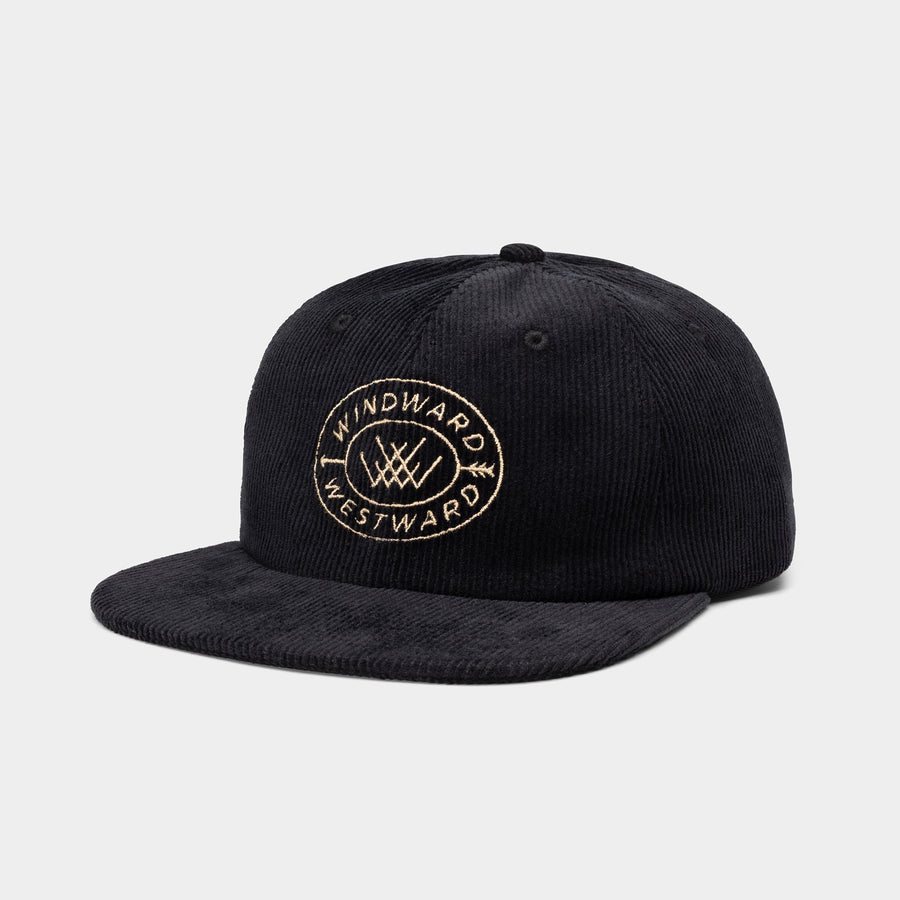 Arrow Hat | Black Corduroy