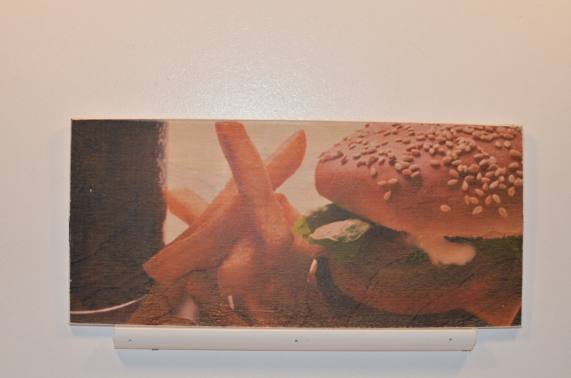 Wooden Wall Sign 10x5 - C001 - Cheeseburger and Fries - Wall Sign - Wicked Good Candle and Decor - 1