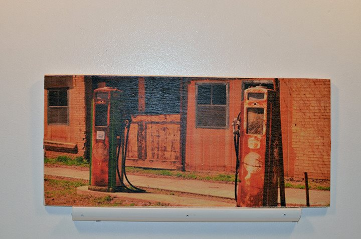 Wooden Wall Sign 10x5 - C003 - Old gas pumps - Wall Sign - Wicked Good Candle and Decor - 1