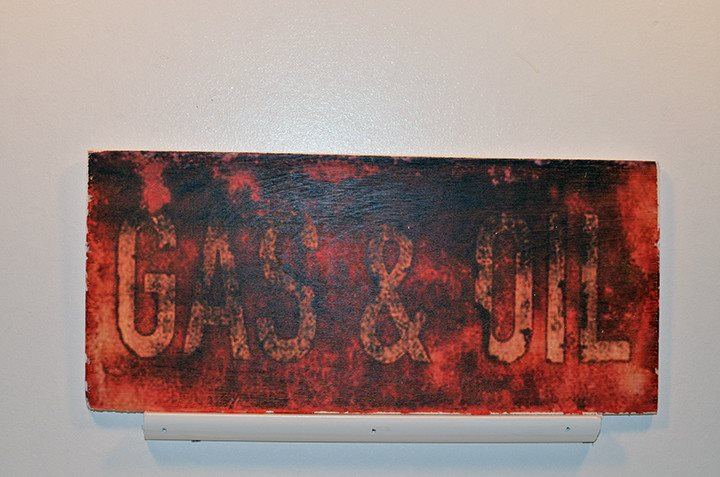 Wooden Wall Sign 10x5 - C005 - Gas and oil - Wall Sign - Wicked Good Candle and Decor - 1