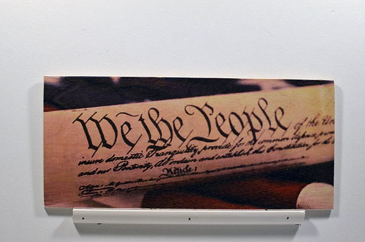 Wooden Wall Sign 10x5 - C006 - We the people - Wall Sign - Wicked Good Candle and Decor - 1