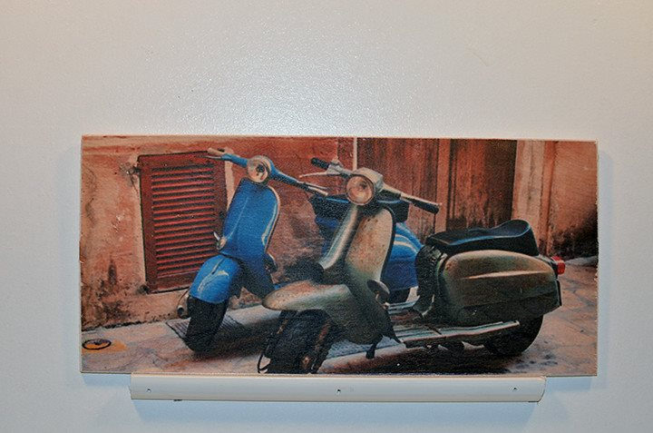 Wooden Wall Sign 10x5 - C008 - Scooters -  - Wicked Good Candle and Decor - 1