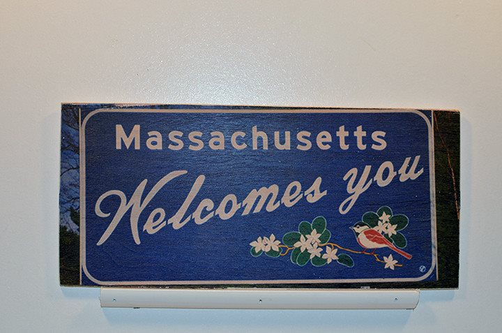 Wooden Wall Sign 10x5 - C009 - Welcome to MA -  - Wicked Good Candle and Decor - 1