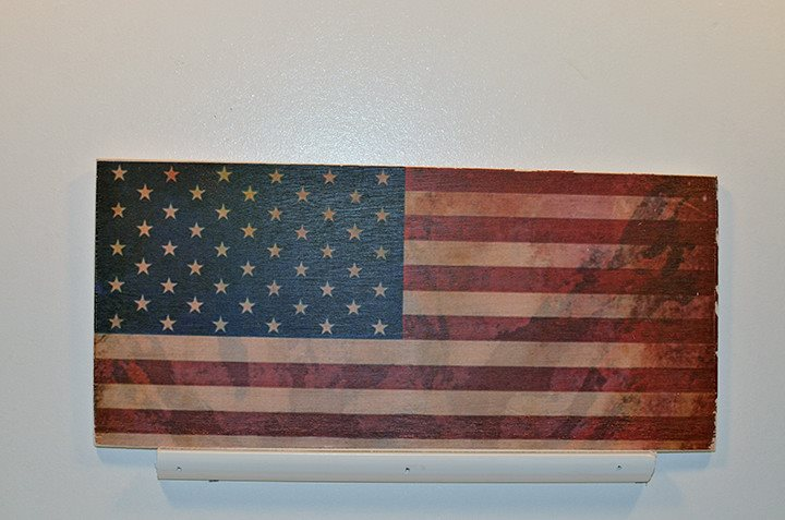Wooden Wall Sign 10x5 - C010 - Flag - Wall Sign - Wicked Good Candle and Decor - 1