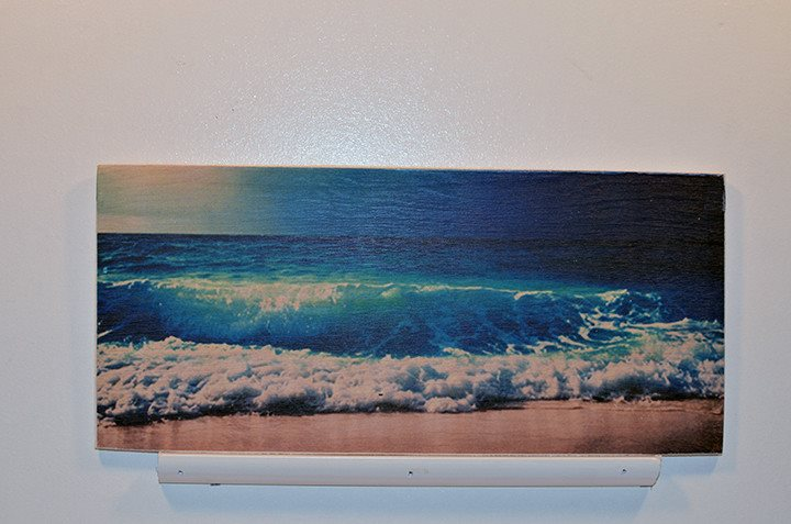 Wooden Wall Sign 10x5 - C012 - Ocean Wave - Wall Sign - Wicked Good Candle and Decor - 1