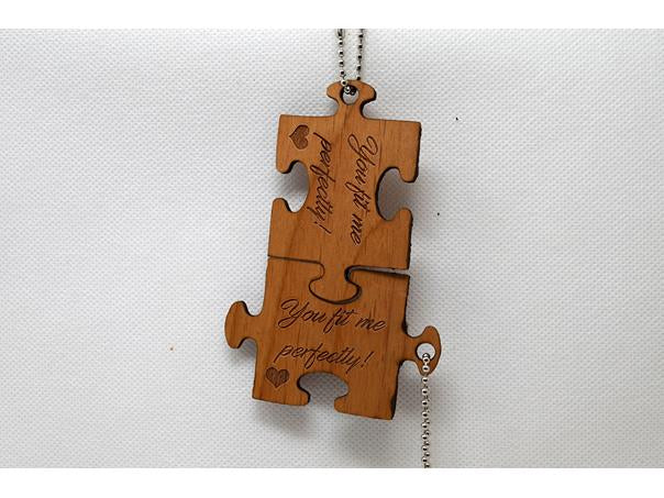 Keychain Puzzle Pieces - You fit me perfectly KC-021 Laser Cut Custom