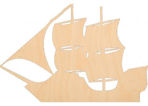 Pirate Ship - Laser Cut Shapes - Sports-Vehicles