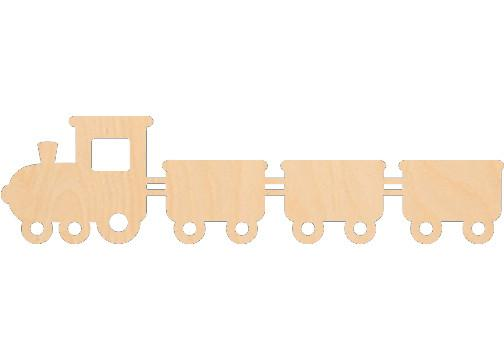 Train with Cars - Laser Cut Shapes - Sports-Vehicles