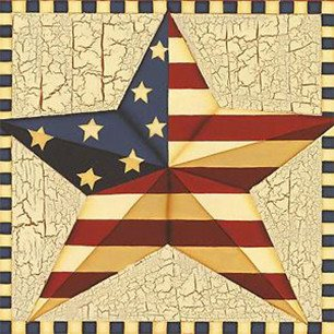 Decorative Ceramic Tile Patriotic Collection - PAT 0001 - Single Ceramic Tile - Wicked Good Candle and Decor - 1