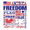 Decorative Ceramic Tile Patriotic Collection - PAT 0013 - Single Ceramic Tile - Wicked Good Candle and Decor - 1