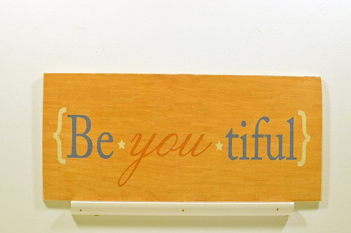 Wooden Wall Sign 10x5 - S010 - Be you tiful - Wall Sign - Wicked Good Candle and Decor - 1