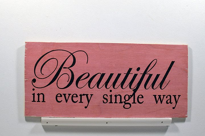 Wooden Wall Sign 10x5 - S011 - Beautiful in every single way - Wall Sign - Wicked Good Candle and Decor - 1
