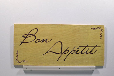 Wooden Wall Sign 10x5 - S013 - Bon Appetite - Wall Sign - Wicked Good Candle and Decor - 1