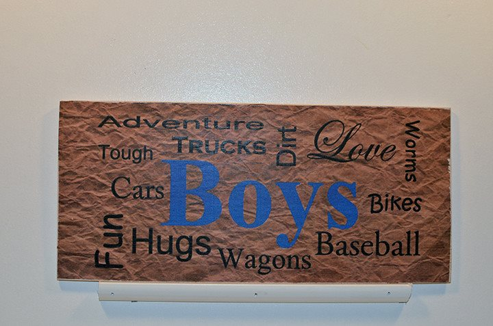 Wooden Wall Sign 10x5 - S016 - Boys - Wall Sign - Wicked Good Candle and Decor - 1
