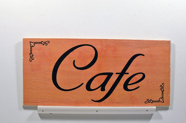 Wooden Wall Sign 10x5 - S019 - Cafe - Wall Sign - Wicked Good Candle and Decor - 1