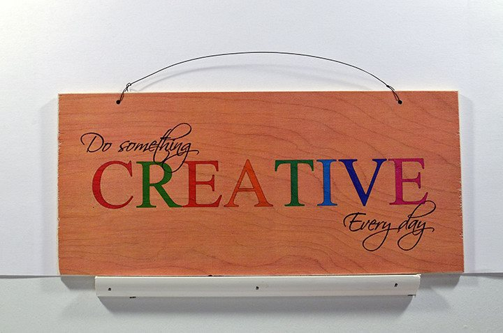 Wooden Wall Sign 10x5 - S023 - Do something creative everyday - Wall Sign - Wicked Good Candle and Decor - 1