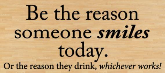 Wooden Wall Sign 10x5 - S111 - Be the reason someone smiles today