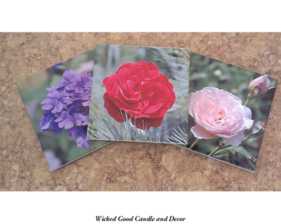 Decorative Ceramic Tile Flower Collection - Flower 0009 - Wicked Good Decor