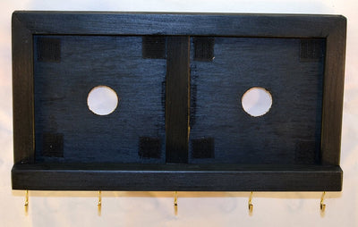 Decorative Ceramic Tile Wooden Frame - Two Tile Frame with Key Hooks - Ebony - Wicked Good Candle and Decor - 4