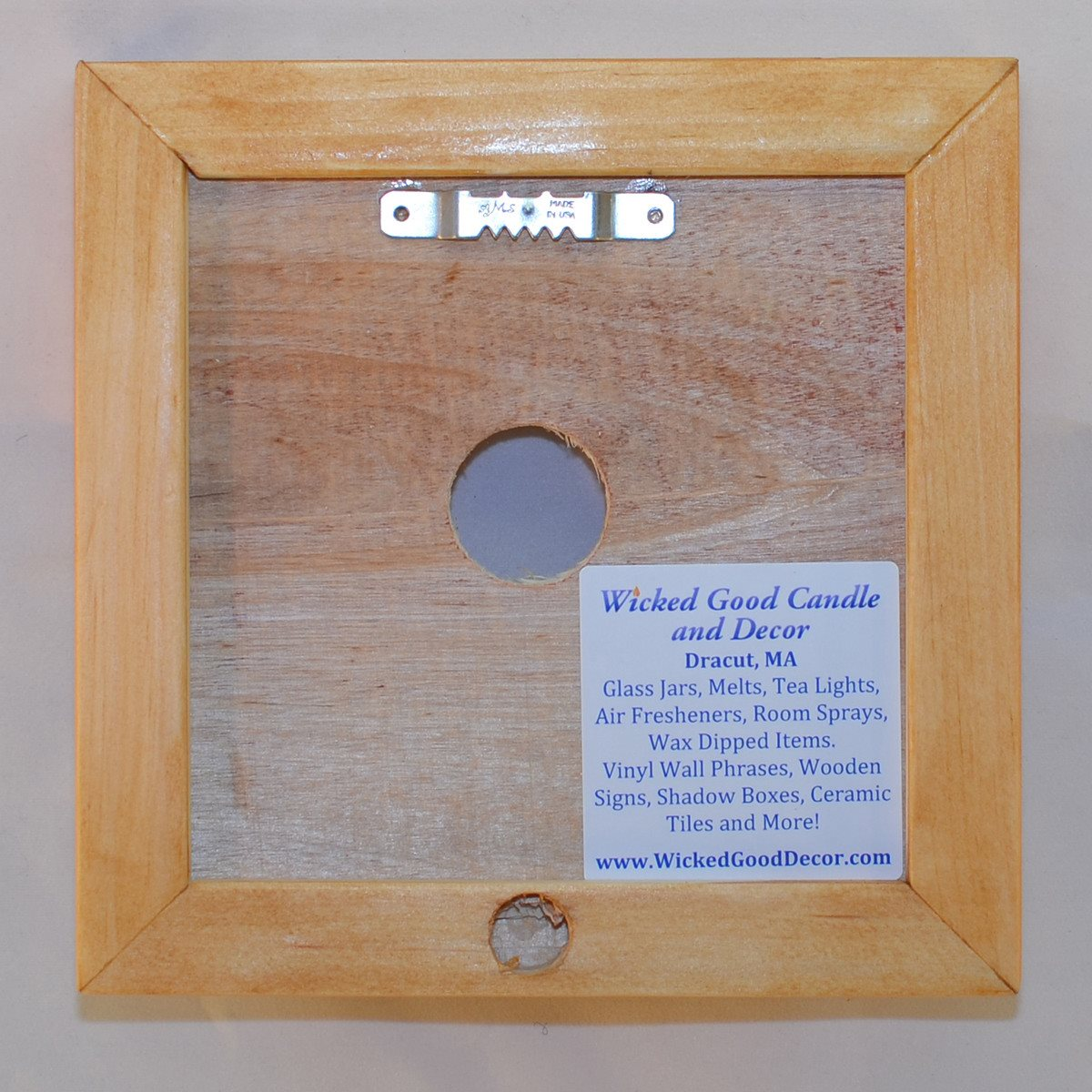 Decorative ceramic tile frame single tile wooden frame decorative ceramic tile frame single tile wooden frame wicked good candle and decor dailygadgetfo Images