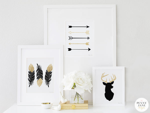 Black and Gold Nursery Design Theme Ideas