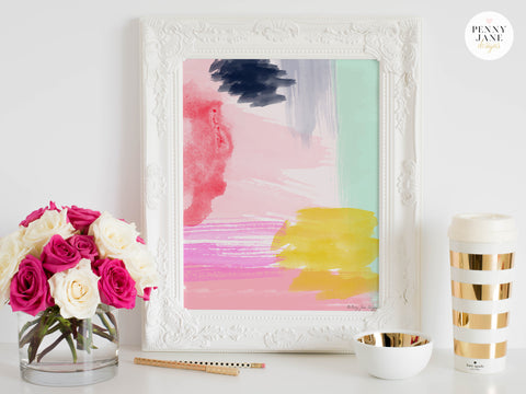 abstract art, abstract home decor, office decor, watercolors