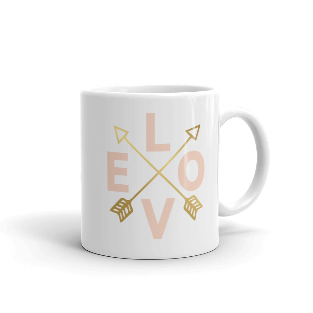 Love & Gold Arrows Coffee Mug
