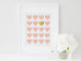 Pink and gold hearts, nursery decor, pink and gold nursery