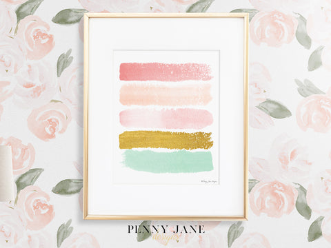 Paint Strokes Art Print