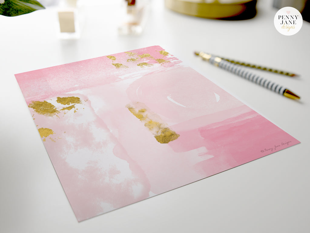 Pink Abstract Art Print