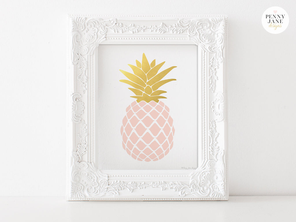 Pink And Gold Home Decor Pineapple