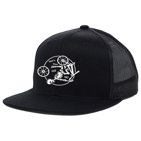 Skeleton Edition Flat Bill Snapback Trucker Hat