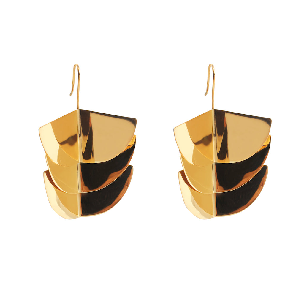 TRES AVES EARRINGS IN GOLD