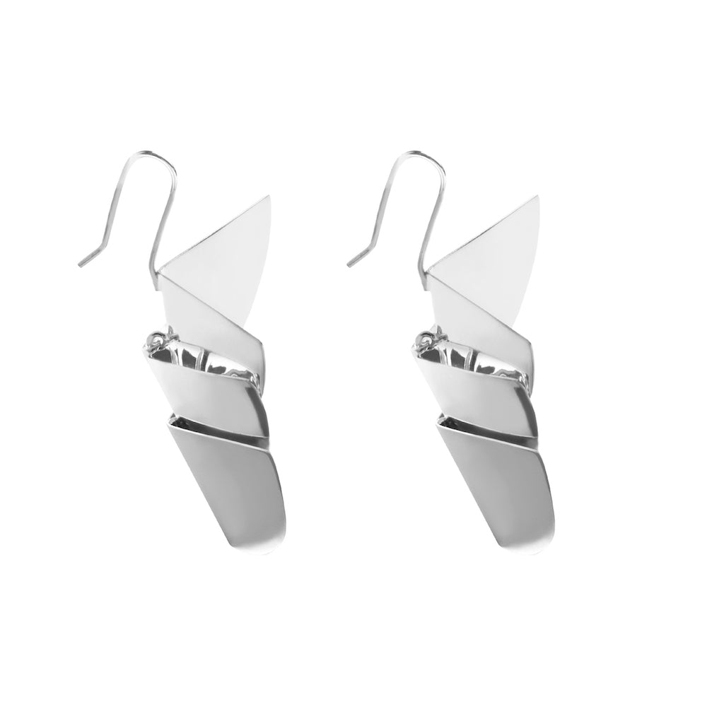 TRES AVES EARRINGS IN STERLING SILVER
